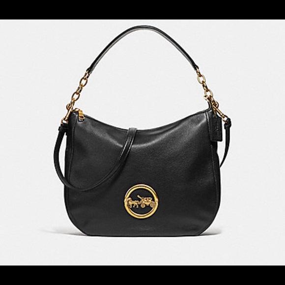 1e91d049a1bc NWT authentic Coach Elle hobo leather handbag